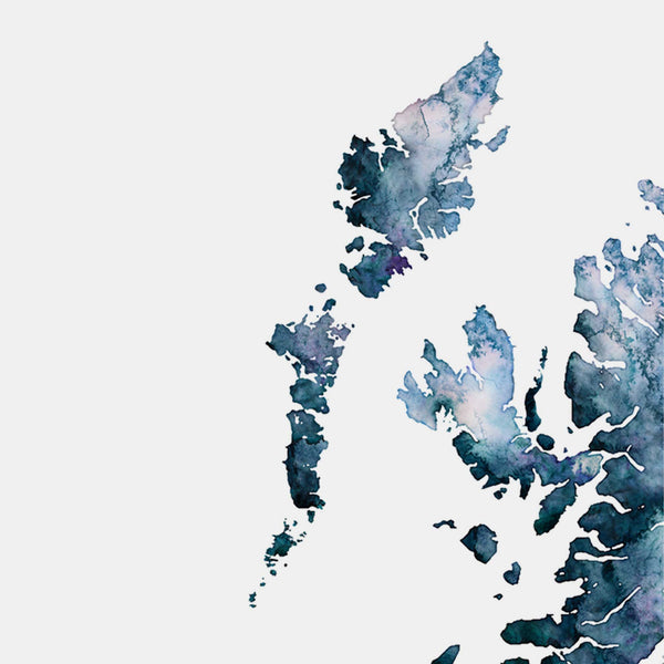 The Hebrides Scotland Highlands Map - EJayDesign