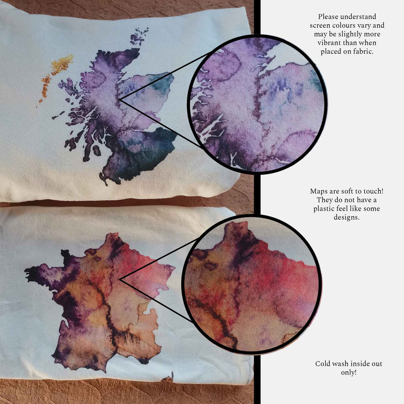 Watercolour Map Clothing