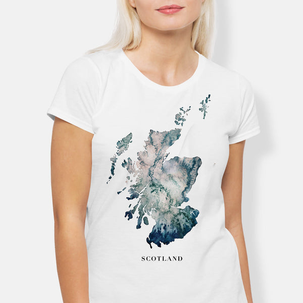 Womens Scotland T-shirt Gift