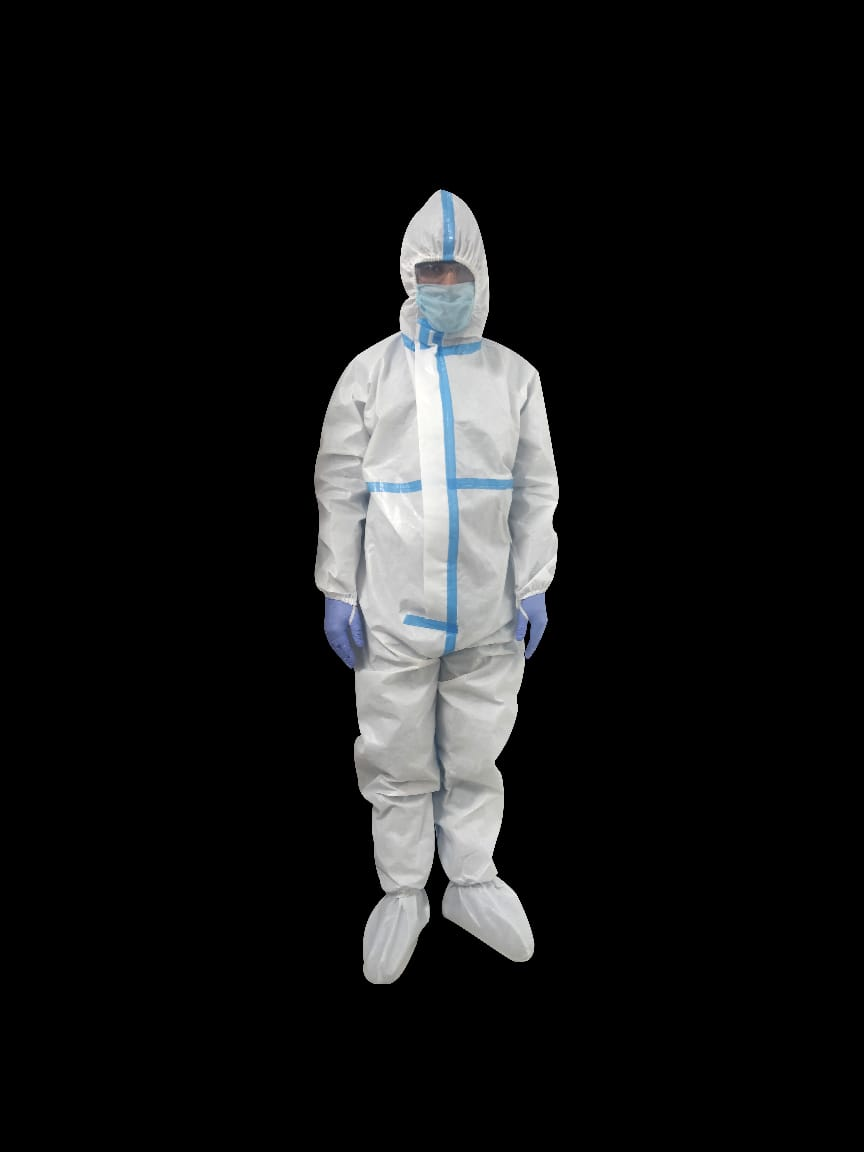 PPE Kit - Medical Personal Protective equipment Coverall Suits for Ward/Hospital/Laboratory/Outdoors Pack of 1