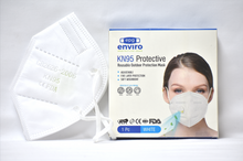 Load image into Gallery viewer, KN95/FFP2 FACE MASK WITH RESPIRATOR