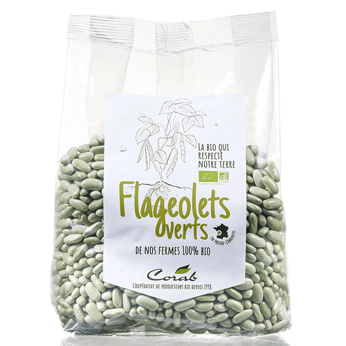Flageolets verts bio (origine France) 500 g