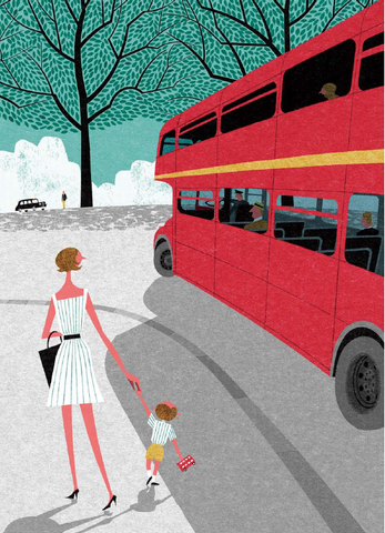 London In The Summer Print By Ryo Takemasa