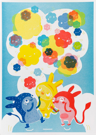 Messy Monster and the Cosmic Colours II Print by OKIDO (Rachel Ortas)