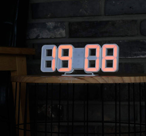 Mooas Pure Orange Mini LED Clock
