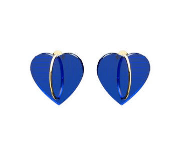 Transparent Blue Heart Earrings