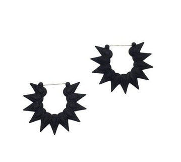 Black Hoops Earrings