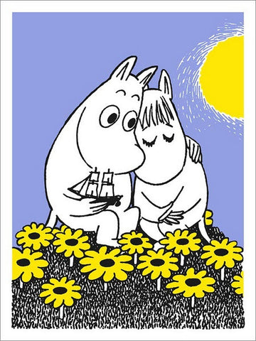 Moomintroll and Snorkmaiden Card