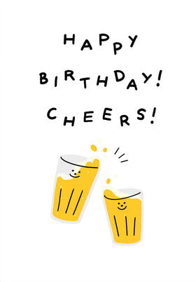 Happy Birthday Cheers Card