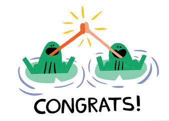 Congrats Frogs Card