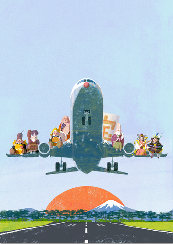 Airplane Print By Tatsuro Kiuchi