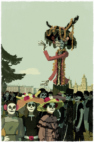 Day of the Dead Print By Tatsuro Kiuchi