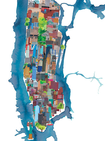 New York Print By Jennifer Maravillas