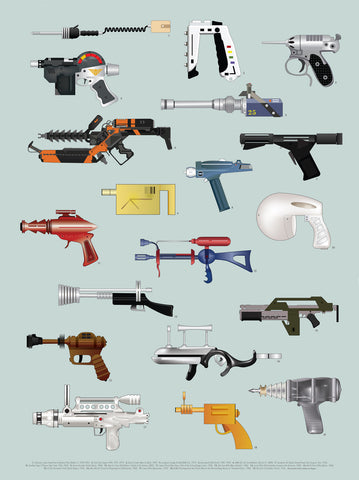 The Space Series: Ray Guns Print By Federico Babina