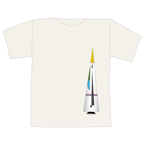 The Space Series: Icarus Space Rocket T-Shirt By Federico Babina