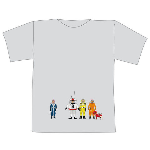 The Space Series: Spacesuits T-Shirt Light Grey By Federico Babina