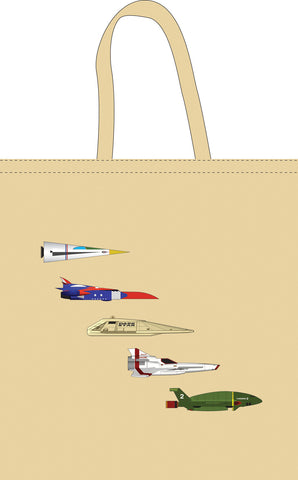 The Space Series: Five Spaceships Tote Bag By Federico Babina