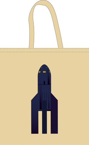 The Space Series: Fritz Lang Space Rocket Tote Bag By Federico Babina