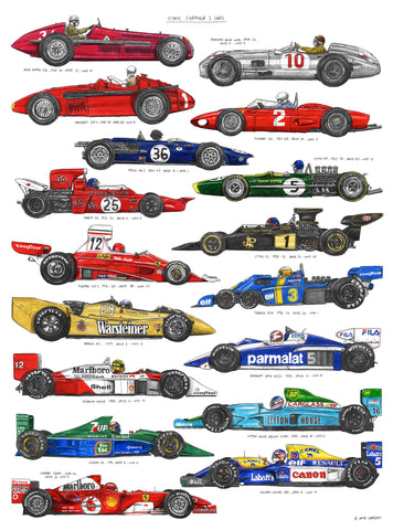 Iconic Formula 1 Cars by David Sparshott