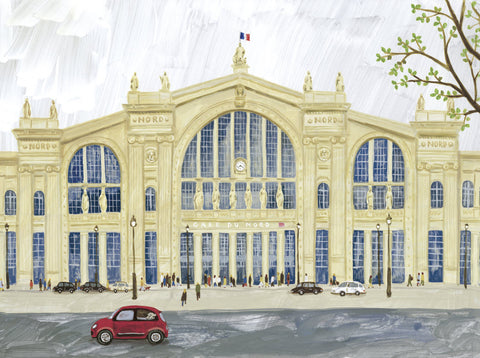 Gare Du Nord Print By Fumi Koike