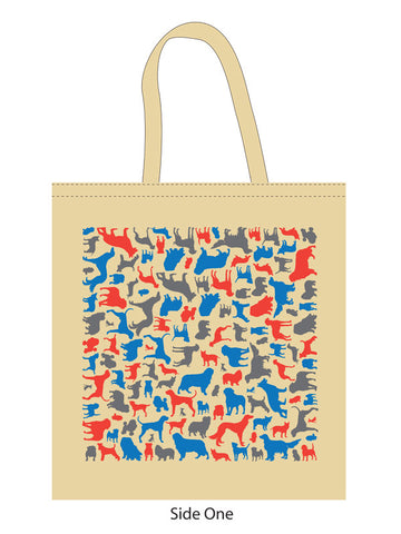 Dog Silhouette Tote Bag By Inca Starzinsky