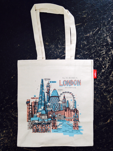 London Buildings Tote Bag By James Gulliver Hancock