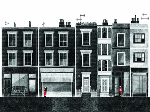 The Streets in Cities Series: London Print By Francesco Giustozzi