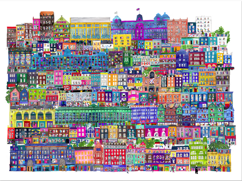 London Shops Print by Jennifer Maravillas