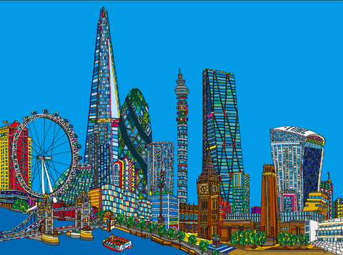 London Skyline Print By Ryu Itadani