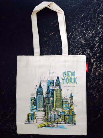 New York Buildings Tote Bag By James Gulliver Hancock