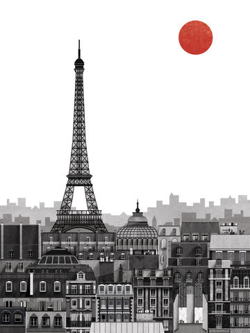 Paris Print By Francesco Giustozzi