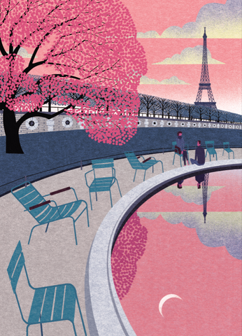 Paris In The Spring Print By Ryo Takemasa