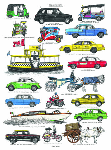 Taxis of the World Print By David Sparshott