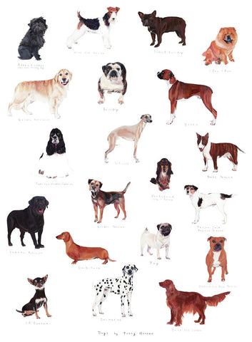 Dogs Print By Polly Horner