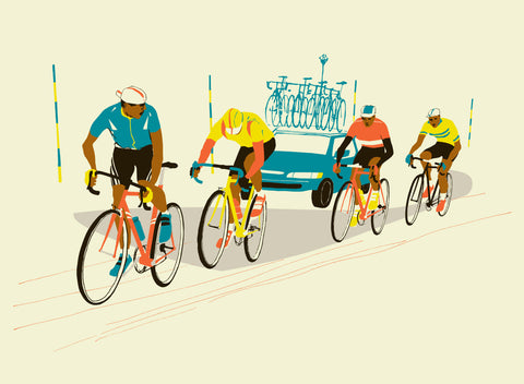 Four Riders Print By Eliza Southwood