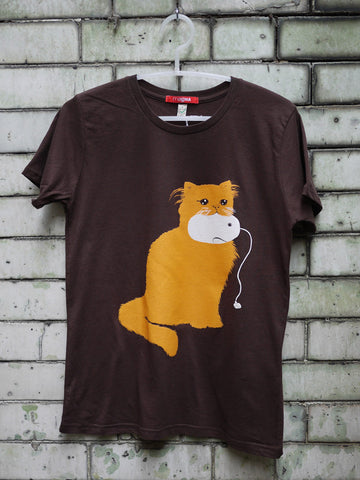 Cat & Mouse T-Shirt Brown By Paul Blow