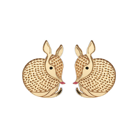 Armadillo Stud Earrings