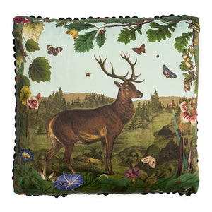 Deer and Oak Leaves Pillow