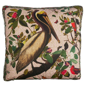 Brown Pelicans Pillow