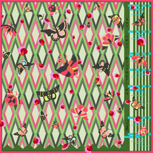 Art Deco Butterflies Scarf