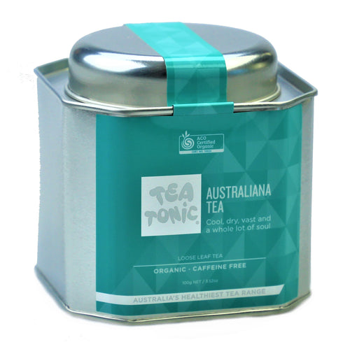 Australiana Tea Loose Leaf Caddy Tin