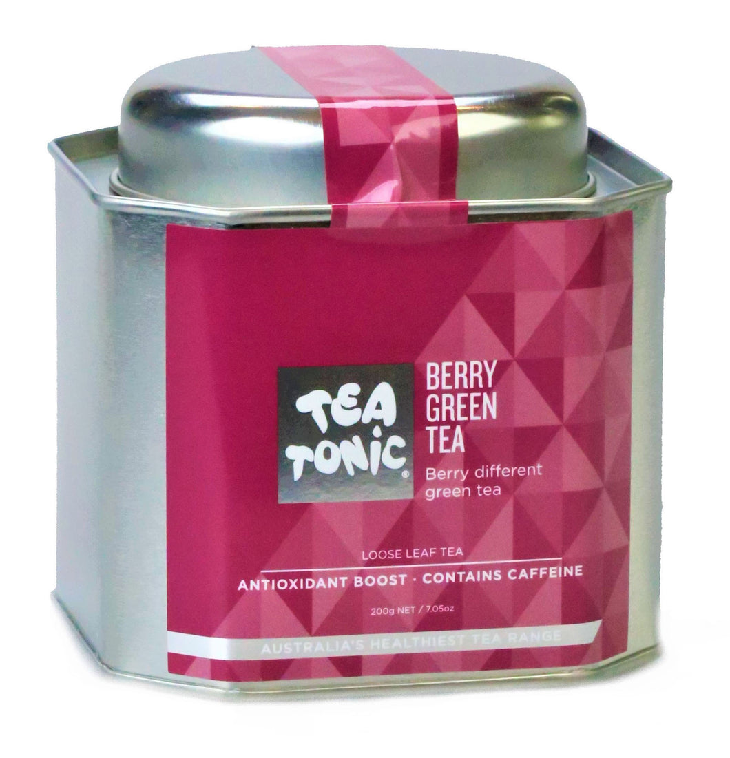 Berry Green Tea Loose Leaf Caddy Tin