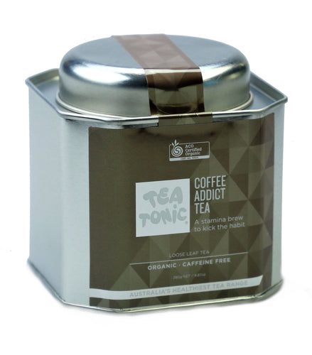 Coffee Addict Tea Loose Leaf Caddy Tin