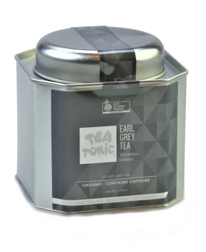 Earl Grey Tea Loose Leaf Caddy Tin