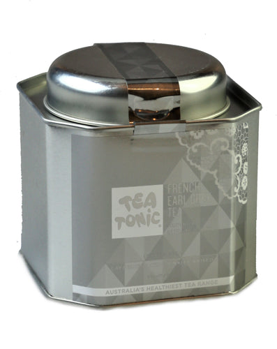French Earl Grey Tea Loose Leaf Caddy Tin