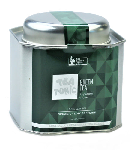 Green Tea Loose Leaf Caddy Tin
