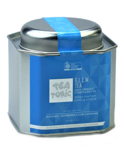 GLEW (Ginger, Lemongrass, Echinacea, White Tea) Tea Loose Leaf Caddy Tin