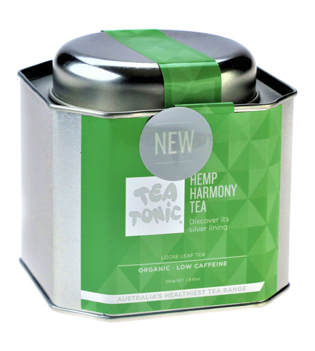 Hemp Harmony Tea Loose Leaf Caddy Tin