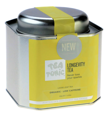 Longevity Tea Loose Leaf Caddy Tin