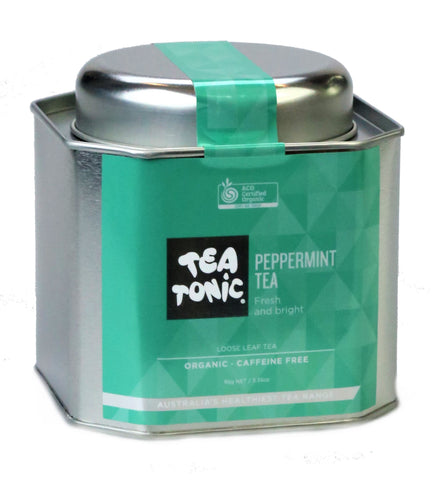 Peppermint Tea Loose Leaf Caddy Tin